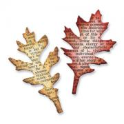 Sizzix Movers & Shapers Magnetic Die Set 2PK - Mini Tattered Leaves Set