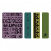 Sizzix Texture Fades Embossing Folders 4PK - Halloween Background & Borders Set