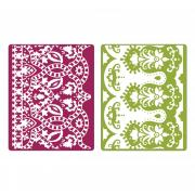 Sizzix Textured Impressions Embossing Folders 2PK - Moroccan Daydreams Set
