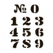 Sizzix Movers & Shapers Magnetic Die Set 11PK - Cargo Stencil Number Set by Tim Holtz