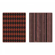 Sizzix Texture Fades Embossing Folders 2PK - Harlequin & Stripes Set