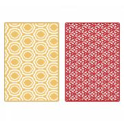 Sizzix Textured Impressions Embossing Folders 2PK - Palace Set