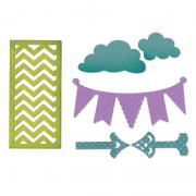 Sizzix Thinlits Die Set 6PK - Arrows, Banners, Chevrons & Clouds