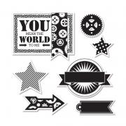 Sizzix Framelits Die Set 7PK w/Stamps - All About A Boy