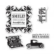 Sizzix Framelits Die Set 5PK w/Stamps - Times & Seasons