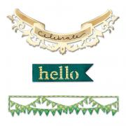 Sizzix Thinlits Die Set 3PK - Hello Banners