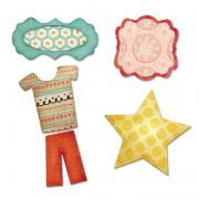 Sizzix Thinlits Die Set 5PK - Bundle of Joy, Boy