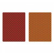 Sizzix Texture Fades Embossing Folders 2PK - Courtyard & Trellis Set