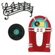 Sizzix Thinlits Die Set 11PK - Juke Box & Music