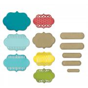Sizzix Thinlits Die Set 12PK - Ornate Labels