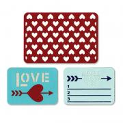 Sizzix Thinlits Die Set 3PK - Love