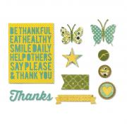 Sizzix Thinlits Die Set 10PK - Be Thankful