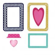 Sizzix Thinlits Die Set 6PK - Frames, Hearts & Tab