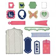Sizzix Thinlits Die Set 22PK - Fancy Base w/Layering Shapes
