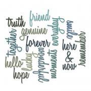 Sizzix Thinlits Die Set 16PK - Friendship Words: Script by Tim Holtz