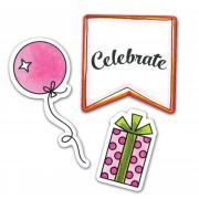 Sizzix Framelits Die Set 4PK w/Stamps - Happy Birthday to You