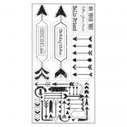 Sizzix Interchangeable Clear Stamps - Arrow Greetings