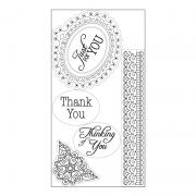 Sizzix Interchangeable Clear Stamps - Doodle Label w/Phrases