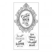 Sizzix Interchangeable Clear Stamps - Fancy Frame w/Phrases