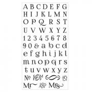 Sizzix Clear Stamps - Alphabet