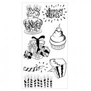 Sizzix Clear Stamps - Birthday Wishes