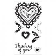 Sizzix Interchangeable Clear Stamps - Doodle Hearts