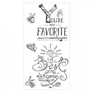Sizzix Clear Stamps - You're My Favorite