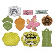 Sizzix Framelits Die Set 10PK w/Stamps - A Bright Harvest