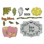 Sizzix Framelits Die Set 13PK w/Stamps - Happy Halloween Set