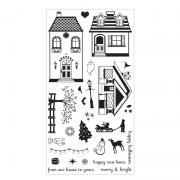 Sizzix Clear Stamps - Happy Home