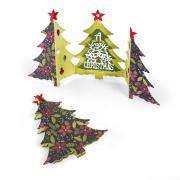 Sizzix Thinlits Die Set 6PK - Card, Christmas Tree Fold-a-Long