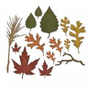 Sizzix Thinlits Die Set 14PK - Fall Foliage
