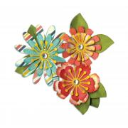 Sizzix Thinlits Die Set 10PK - Mix & Match Flowers