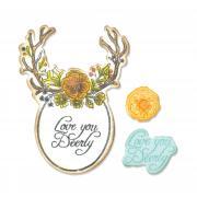 Sizzix Framelits Die Set 5PK w/Stamps - Sweet Deer