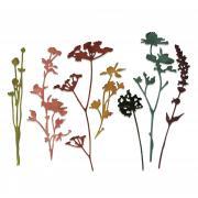 Sizzix Thinlits Die Set 7PK - Wildflowers #1 by Tim Holtz