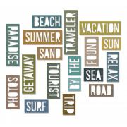 Sizzix Thinlits Die Set 18PK - Vacation Words: Block