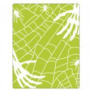 Sizzix Textured Impressions Embossing Folder - Skeleton Hands, Spiders & Spiderweb