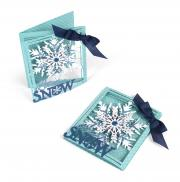 Sizzix Thinlits Die Set 8PK - Tri-fold Card, Snowflake