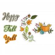 Sizzix Framelits Die Set 5PK w/Stamps - Happy Fall Y'all