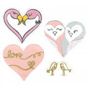 Sizzix Framelits Die Set 8PK w/Stamps - Bird Love
