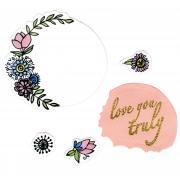 Sizzix Framelits Die Set 5PK w/Stamps - Love You Truly