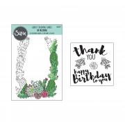 Sizzix Coloring Cards w/Stamps - In Bloom