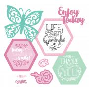 Sizzix Framelits Die Set 11PK w/Stamps - Thanks for Being You