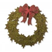 Sizzix Bigz Die w/Texture Fades - Layered Holiday Wreath