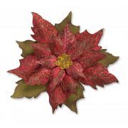 Sizzix Bigz Die w/Texture Fades - Layered Tattered Poinsettia