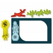 Sizzix Framelits Die Set 9PK w/Stamps - Photo Frame, Seasonal Borders