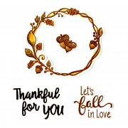 Sizzix Framelits Die Set 7PK w/Stamps - Let's Fall in Love