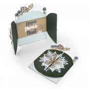 Sizzix Thinlits Die Set 13PK - Snowflake Card, Flip and Fold