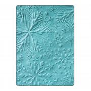Sizzix 3-D Textured Impressions Embossing Folder - Winter Snowflakes
