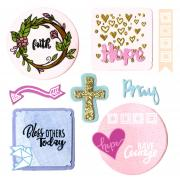 Sizzix Framelits Die Set 13PK w/Stamps - Grace for Today Planner